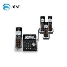 AT&T (4 HANDSETS) DECT 6.0 Cordless Phone System + 3 Docks & 1 Main Base CL83463