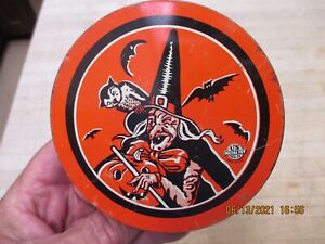 Vintage US Metal Toy Wicked Witch HALLOWEEN Tin Ratchet/Crank Noise Maker