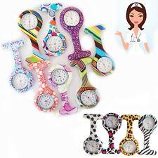 New Pattern Print Nurse Watch FOB Silicone Brooch Tunic Pocket Watch Fashion