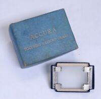 Vintage ACCURA Focusing Groung Glass w Original Box Parts for SLR Film Camera