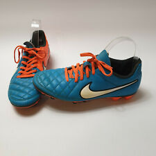 Rare Nike Tiempo Legend V 2014 Studs Size 7 Good condition Orange Blue Color