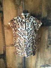 WILSONS  VINTAGE WHITE  LEOPARD RABBIT FUR JACKET COAT VEST M MINT