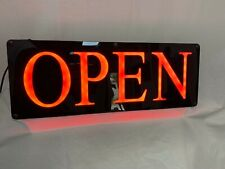 "Led Open Sign Clean and Modern 22"" x 8"" Black & Red"