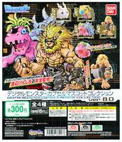 Set 4 pcs Digimon Digital Monster Figure Capsule Collection 8 Bandai Gashapon