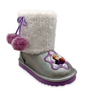Disney Frozen 2 Anna & Elsa Cozy Faux Shearling Winter Boot Size 7 NWT