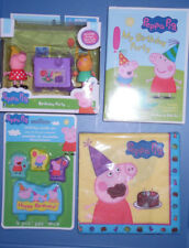 Peppa Pig Candy Cat Toy Figures/ Peppa Pig My Birthday Party DVD/Candles/Napkins