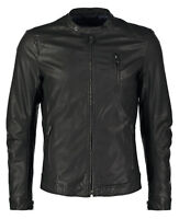 ★Giacca Giubbotto Uomo in di PELLE 100% Men Leather Jacket Veste Homme Cuir R66c
