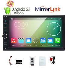 Autoradio Doppel 2 Din Player Stereo GPS BILDSCHIRM Android 5.1 Bluetooth USB