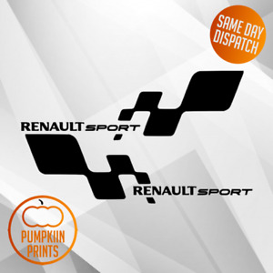 2 x Renault Sport style vinyl stickers decals Clio Megane custom SPORT CUP
