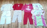 3x Schlafanzüge Mädchen Gr. 110 116 lang warm Pyjama +3 Oberteile Zweiteiler süß