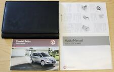 GENUINE VAUXHALL ZAFIRA B OWNERS MANUAL HANDBOOK  2008-2014 PACK D-83