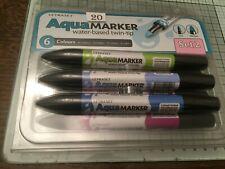 Letraset Aquamarker 6 Pen Promarker Aqua Marker Set 2      ref20
