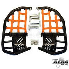 Honda TRX 400EX 400X  Nerf Bars  Pro Peg Heel Gaurds Alba Racing Black Orange