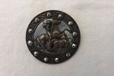 VINTAGE METAL AND FACETED STEEL BUTTON A STUDY OF A BULL FIGHTER  3.5cm (1056)