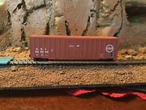 N Scale Roundhouse 50' plug door boxcar CEI CHICAGO EASTERN ILLINOIS mtl cplrs