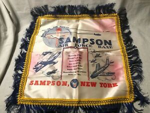 Vintage 1950s USAF Sister Pillow Cover Sampson NY AFB United States Air Force
