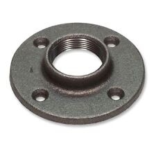 "3/4"" BLACK MALLEABLE FLOOR FLANGE - IRON PIPE FITTING NPT"