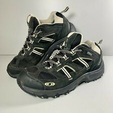 Men's Salomon Contagrip  Black Gore Tex Hiking Trail Shoes Size UK 7