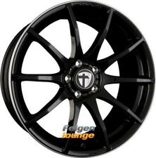 4x TOMASON TN1 Black Rim Polished 8,5x18 ET30 4x100 ML63.4 Alufelgen