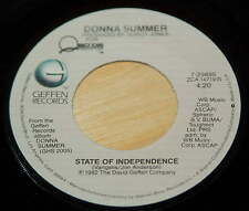 Donna Summer 45 State Of Independence / Love Is Just A Breath Away