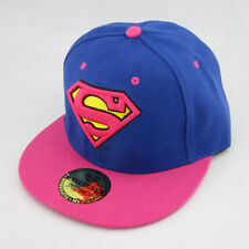New Blue Pink Superman hiphop Snapback Adjustable baseball cap flat hat Costume