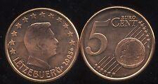 LUXEMBOURG     5 cent  2005  SPL  neuve  ( sortie du rouleau )