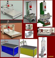 Mega Compilation10 cnc router plans milling 3D CAD 3th 4th 5th axis 6,34Gb