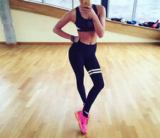 US Women High Waisted Yoga Leggings Fitness Pants Gym Running Athletic Trousers
