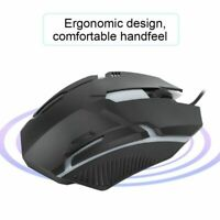 MS11 1600DPI Wired Backlight USB Mouse Ergonomic Gaming Notebook Office Mice HA