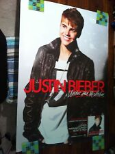 JUSTIN BIEBER Full Colour Under The Mistletoe Promotional POSTER Rare