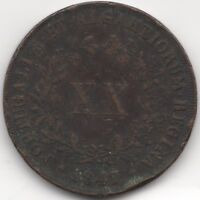 1847 Portugal Maria II 20 Reis | Pennies2Pounds