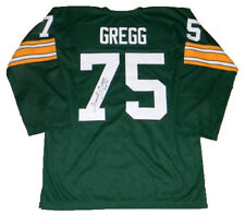 FORREST GREGG AUTOGRAPHED SIGNED GREEN BAY PACKERS #75 THROWBACK JERSEY JSA