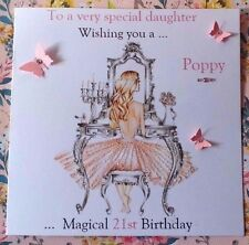 PERSONALISED  HANDMADE BIRTHDAY CARD  18TH 21ST 40th DAUGHTER SISTER NIECE AUNT