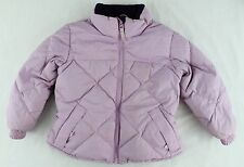 LANDS END Girls Purple Puffer Down Jacket Child Size Small 4