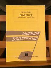Francine Aubin partition trompette et piano éditions Robert Martin
