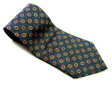 DILLARD'S STONEHENGE  Neck Tie FLOWERS Floral  100% SILK Necktie Green Yellow