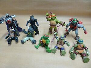Teenage Mutant Ninja Turtle Figures some villains different sizes,