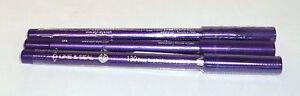 3 STYLI-STYLE Line & Seal 24 Waterproof Eye Pencil DEEP PURPLE 130 Sealed