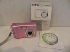Insignia NS-DSC10A 10MP Megapixel Digital Camera Pink 3x Optical Zoom
