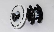 Steuersatz 1 1/8 Cube Star Nut Steuersatzdeckel Aluminum  34 mm weiß MTB Road