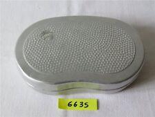 DDR Aluminium Brotdose ALUWA Brotbüchse Bemmbüchse Frühstücksdose silber klein