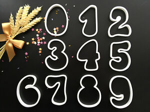 Numbers | Large | 4 inches | Cookie Cutter | Cake Decorating | UK Seller