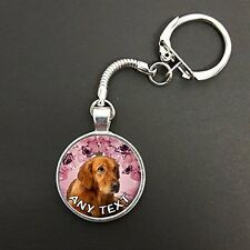 Personalised Golden Retriever Pendant On A Snake Keyring Ideal Gift N744w
