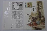 RWANDA 2 FRANCS 1970 COIN COVER A98 - 68