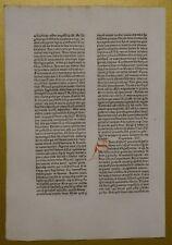 Original Blatt aus der KOBERGER BIBEL 1475, Nürnberg, rubriziert Inkunabel 6