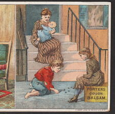 Marbles 1800's New York Rich Vs Poor Novelty Madam Porter Cough Cure Trade Card