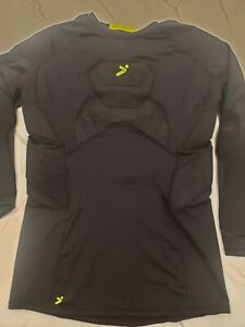 STORELLI Men's Padded Long Sleeve Goalkeeper Shirt Black Size MEDIUM