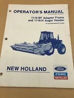 Ford New Holland 1116-BF 1116-H Header 89 OPERATORS Manual Assembly Information