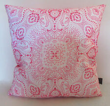Pink Bandana  Cushion | Paisley Pattern | Eco-canvas | Paisley Power