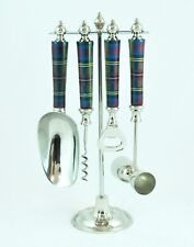 TARTAN BAR SET 4 PIECE STAINLESS STEEL WITH STAND